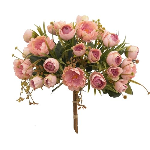 Artificial Flowers Bundle with Stems