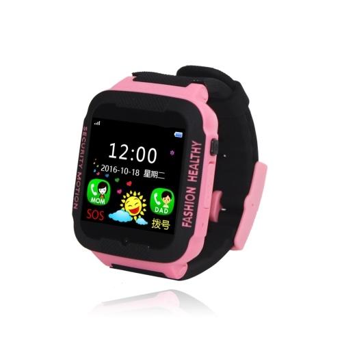 Kinder-Smartwatch mit SIM-Kartenschlitz Touchscreen Anti-Lost-Armbanduhr mit Locator Tracker SOS Call Voice Chat Kompatibel für Android- und iOS-Telefone