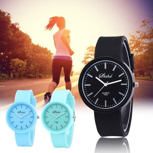 Women Fashion Simple Wrist Watch Silica Gel Band Alloy Case Quartz Watch