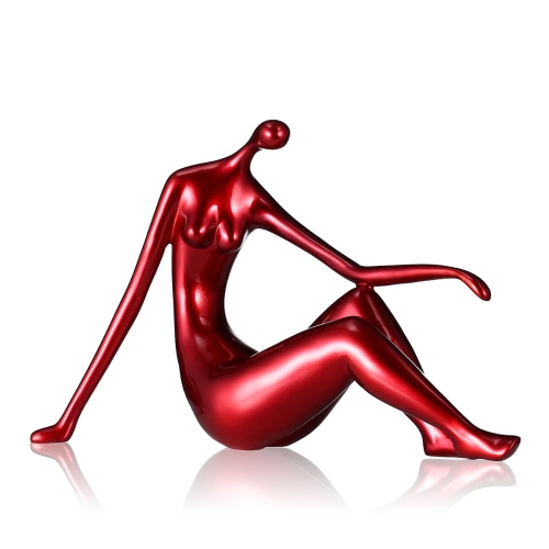 Liegende Frau Tooarts Fiberglas Skulptur Home Decoration Zarte Backen Farbe Elegant Form