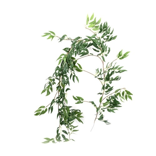5.6ft Artificial Willow Leaves Vines Plant Faux Twigs String Willow Rattan