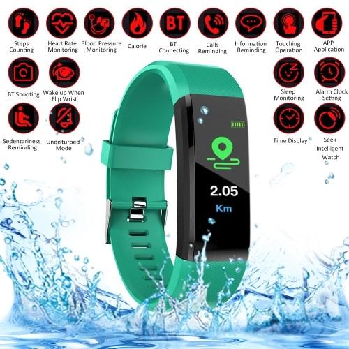 115Plus Schermo intelligente a colori per orologio BT Sport Impermeabile Passi per orologio Conteggio della pressione sanguigna Monitoraggio della frequenza cardiaca Orologio fitness