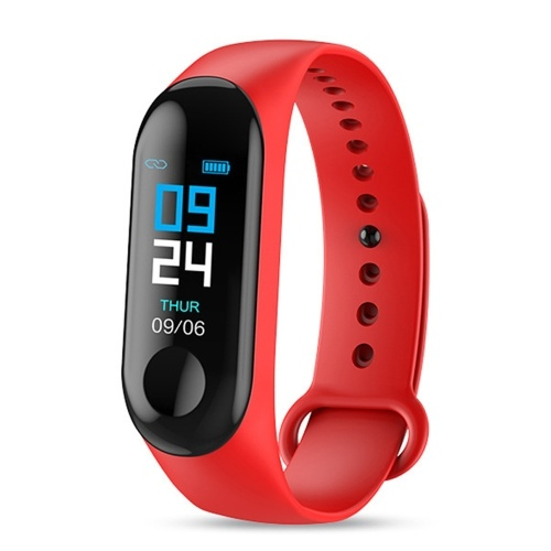 M3 Intelligente Uhr Farbdisplay BT Sport IP67 Wasserdichte Uhr Schritte Zählen des Blutdrucks Herzfrequenzmessung Fitness Uhr