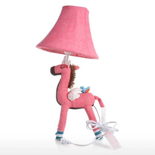 Unicorn Table Lamp Pink US Plug Decorative Desk Table Lamp Animal Cotton Lamp for Children LED Bulb not Included