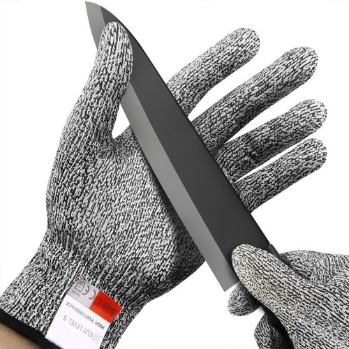 Guantes anti-corte 5 Grado de seguridad Prueba de corte de acero inoxidable resistente a las puñaladas
