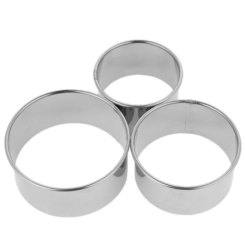 Stainless Steel Circle Pastry Cutter Set 3 Pieces Cookie Cutter Dumpling Cake Baking Molds