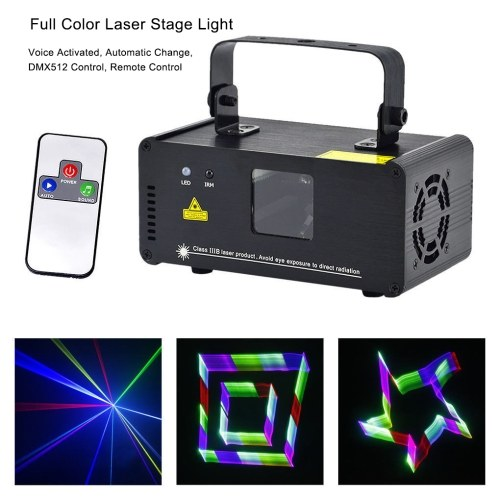 Animation DMX512 Projector Lamp Laser LED Stage Light With Remote Control(Full Color Laser)