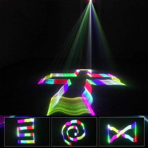 Animação DMX512 Lâmpada do Projetor Laser LED Luz de Palco Com Controle Remoto (Full Color Laser)