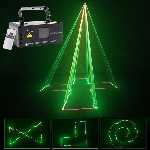 Animation DMX512 Projector Lamp Laser LED Stage Light With Remote Control(Green Red Laser)
