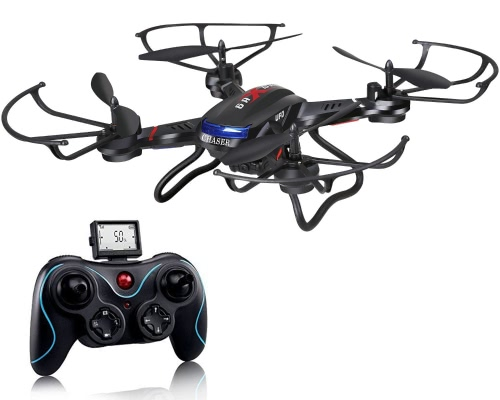 Holy Stone F181 RC Quadcopter Drone с HD-камерой RTF 4-канальный 2,4-гигагерцевый 6-гироскоп безголового черного (модернизирован с функцией удержания высоты)