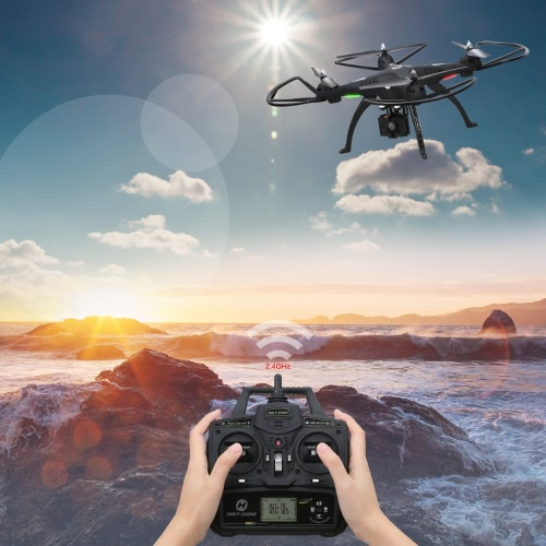 1080P Câmera Drone, Holy Stone HS300 RC Quadcopter com 120 ° Câmera HD de grande angular 6-Axy gyro 2.4 GHz com Altitude de espera, One Key Return e Headless Mode Function RTF Includes Bonus Battery