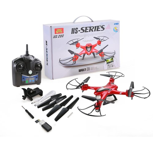 Holy Stone HS200 FPV RC Drone avec HD Wifi Camera Live Feed 2.4GHz 4CH 6-Axis Gyro Quadcopter avec Altitude Hold, capteur de gravité et Headless Mode RTF Helicopter, Color Red