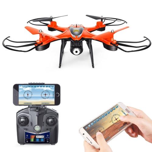 Holy Stone HS130 Wifi FPV Drone avec caméra vidéo HD réglable RC Quadcopter avec Altitude Hold, contrôle d'application, casque 3D VR Compatible, RTF et facile à déplacer pour débutant et expert, couleur rouge