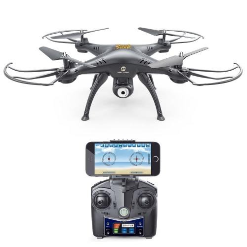 Holy Stone HS120 Wifi Drgania FPV z regulowaną kamerą HD Kamera wideo Quadcopter z funkcją regulacji wysokości, sterowanie aplikacjami i kompatybilny z zestawem słuchawkowym 3D VR, RTF łatwe w użyciu dla początkujących i ekspertów, kolor czarny