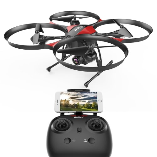DROCON Débutant Quadcopter Drone avec anti-vibration optique HD FPV Camera 1280 x 720P UDI U818PLUS Altitude Hold, Stable One-Button Take and Landing, TF Card 4 Go Inclus