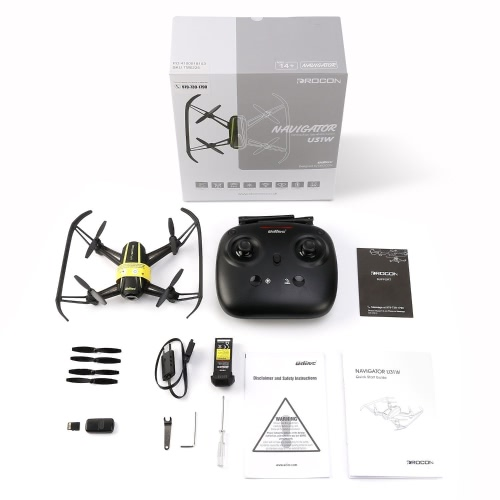 Navigator U31W Drone com câmera HD (1280 x 720) Kids e Beginner WIFI FPV Quadcopter com Altitude Hold Modo Headless TF Card 4GB Incluído