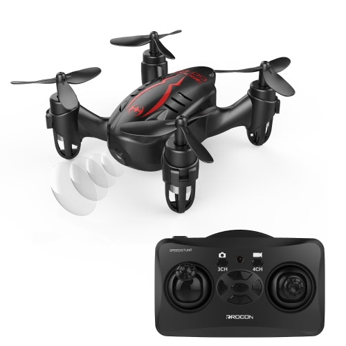 DROCON Hacker Drone, RC Quadcopter Micro Mini Drone with 720P HD Camera, Headless Mode, Easy to Trim, 360 Degree Flip
