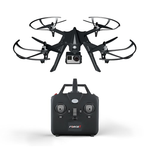 Force1 F100 GoPro-Compatibile Quadcopter - Hero 3 o 4 Drone pronto per la macchina con motori brushless per un volo lungo e super-tranquillo (Camera non inclusa)