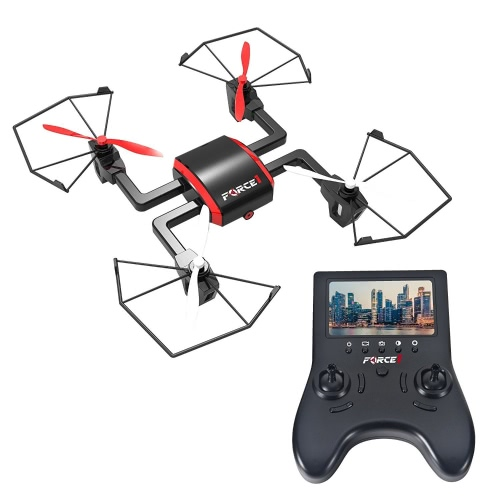 Force1 Headless 360 Flip Mode Focus FPV Drone com 720p Live Video HD Camera e bateria