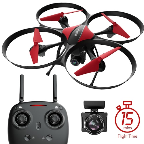 Force1 U49C Drone avec appareil photo, 15-Min. Temps de vol, Altitude Hold, mode sans tête, batterie Drone bonus, carte SD de 4 Go, 2 moteurs supplémentaires, caméra drone RC - drone pour enfants et débutants