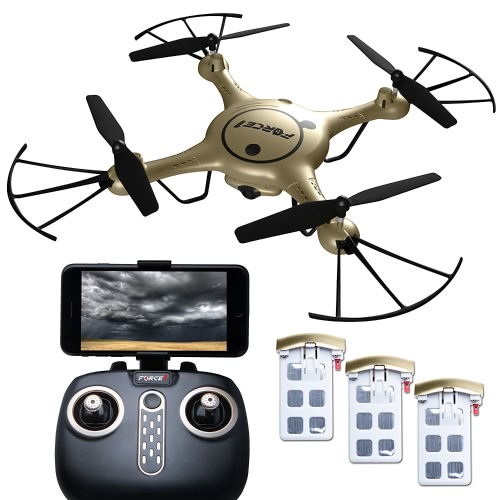Force1 RC X5UW Thunderbolt Wi-Fi FPV Drone con videocamera Live Video; Drones di controllo di Force1 con la macchina fotografica Includi Alt. Hold, Controllo a 1 tasti + Stunt Moves & More