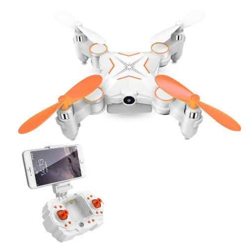 Rabing Mini Foldable RC Drone FPV VR Wifi RC Quadcopter Controle Remoto Drone com HD 720P Camera RC Helicopter