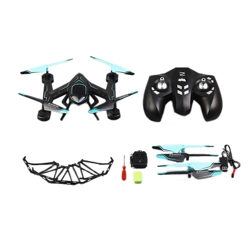 Rabing RC Drone FPV VR Wifi RC Quadcopter 2.4GHz à 6 axes Gyro Télécommande Drone avec HD 2MP Camera Drone