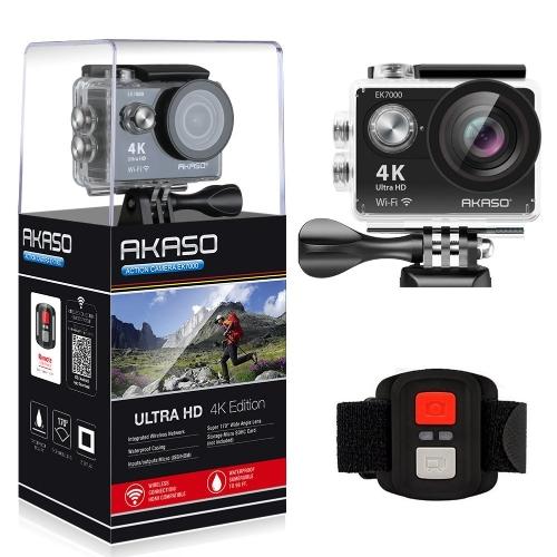 AKASO EK7000 4K WIFI Sports Action Caméra Ultra HD DV étanche Caméscope 12MP 170 Degrés Grand Angle