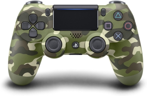 Беспроводной контроллер SONY DualShock 4 для PlayStation 4 - Зеленый камуфляж