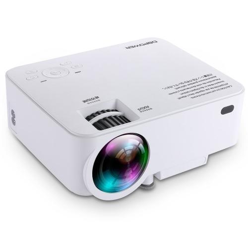DBPOWER T20 1500 lúmenes Mini proyector LCD, Multimedia Proyector de cine en casa Soporte 1080P HDMI Tarjeta SD USB VGA AV para Home Cinema TV Juego portátil iPhone Andriod Smartphone con Cable HDMI gratis