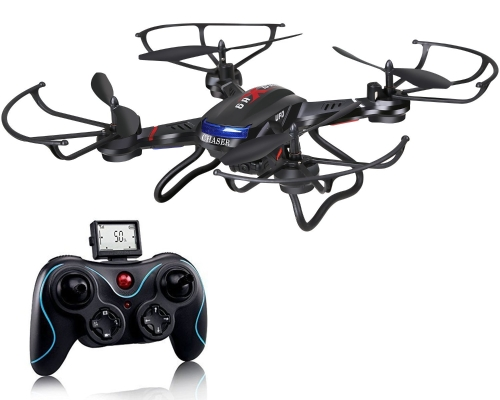 Holy Stone F181C RC Quadcopter Drone with HD Camera RTF 4 Channel 2.4GHz 6-Gyro with Altitude Hold Function,Headless Mode and One Key Return Home Color Black