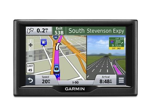 غارمين نوفي 57LM غس نظام المستكشف مع المنطوقة بدوره عن طريق بدوره الاتجاهات، وشاشة 5 بوصة، ومدى الحياة التحديثات، والوصول المباشر، وعرض الحد الأقصى للسرعة