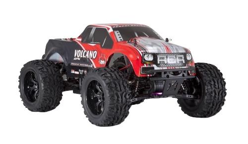 Redcat Racing Electric Vulcano EPX Truck con radio 2,4 GHz, batteria del veicolo e caricabatterie inclusi (scala 1/10), rosso