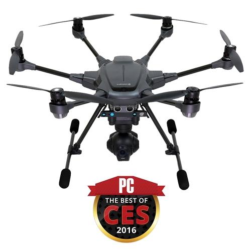 Yuneec Typhoon H Pro с технологией Intel RealSense - предотвращение столкновений 4K Hexacopter Drone, углеродное волокно (YUNTYHBRUS)