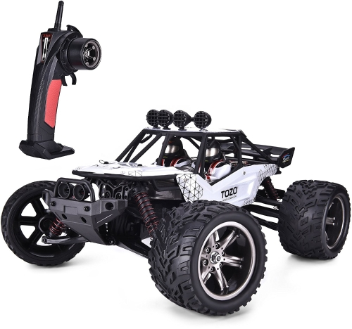 TOZO C2035 RC CARS Alta velocidad 30MPH 1/12 Scale RTR Control remoto cepillado Monster Truck Off road Coche Big Foot RC 2WD ELECTRIC POWER BUGGY W / 2.4G Challenger Blanco