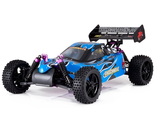 Redcat Racing Shockwave Nitro Buggy, niebieski, skala 1/10