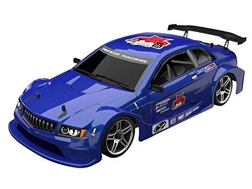 Redcat Racing EPX Drift Car con batería 7.2V 2000mAh, radio de 2.4GHz y cuerpo BL10315 (escala 1/10), azul metálico