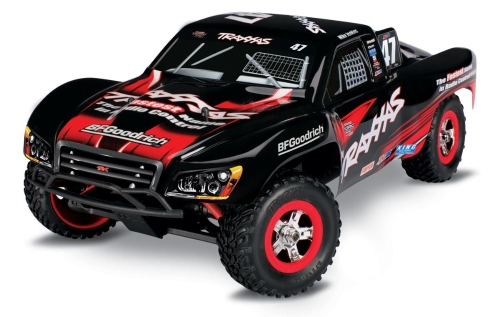 Traxxas 70054-1 Slash: camion da corsa elettrico a corsa breve 4WD, Ready-To-Race (scala 1/16), Colors May Vary
