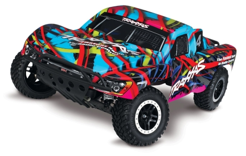 Traxxas Slash 1/10 Scale 2WD Short Course Racing Truck con sistema radio TQ a 2,4 GHz, hawaiano