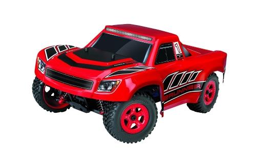 Traxxas LaTrax Electric 4WD Desert Prerunner Mando a distancia Race Truck con radio de 2.4GHz (1/18 Scale), Rojo