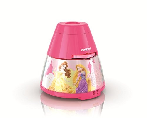 Philips 717692848 Disney Princess 2-in-1 Projector and Night Light, Pink