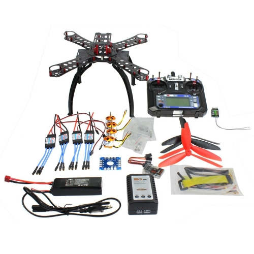 QWinOut QQ Super Multi-rotor Flight Control DIY 310mm Fiberglass RC Racing Drone Unassembly ARF Combo Комплект с Flysky FS-i6 6CH 2.4G AFHDS 2A ЖК-пульт дистанционного управления