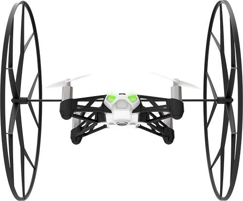 Parrot Mini Drone Rolling Spider - Bluetooth 4.0 Controlled Robotic Toy - Fly & Roll White