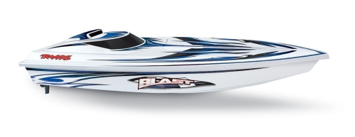 Traxxas Blast: High Performance Race Boat with TQ 2.4GHz Radio System, White