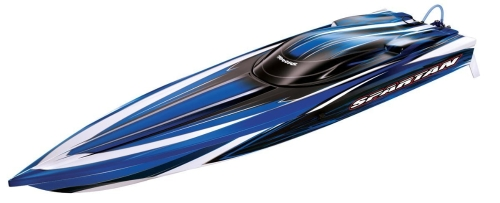 "Traxxas Spartan: 36 ""Race Boat с TQi 2.4GHz Radio & TSM, Blue"
