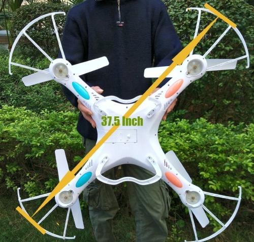 NiGHT LiONS TECH® 37,5-дюймовый Monster Drone N7C 4-канальный 6-осевой GYRO Большой четырехкопировальный аппарат с 2-мегапиксельной HD-камерой для наружного полета, обновленная версия