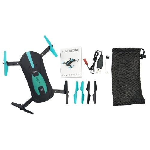 NiGHT LiONS TECH Versione aggiornata JY018 WIFI Quadcopter con fotocamera pieghevole Braccio Altitude Hold RC Mini Quadcopter Selfie Pocket Drone RTF (verde)