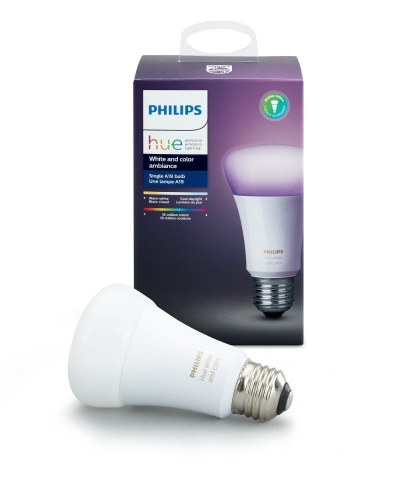Philips Hue Weiß und Farbe Ambiance 3rd Generation A19 10W äquivalente dimmbare LED Smart Bulb (neueste Modell, kompatibel mit Amazon Alexa, Apple HomeKit und Google Assistant)