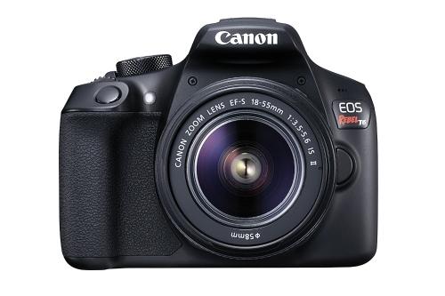 Zestaw lustrzanek cyfrowych Canon EOS Rebel T6 z obiektywem EF-S 18-55 mm f / 3,5-5.6 IS II (czarny)