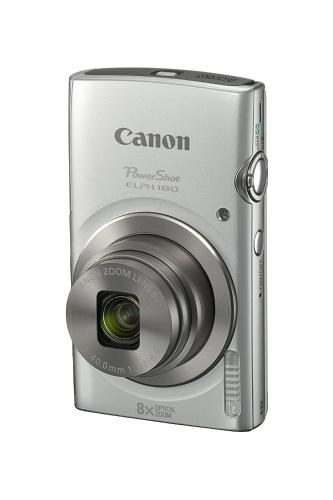 Aparat cyfrowy Canon PowerShot ELPH 180 z regulacją obrazu i trybem inteligentnym AUTO (srebrny)